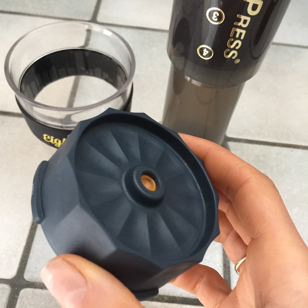Aeropress Fellow espresso attachment from Eight ounce coffee supply and Lex Albrecht
