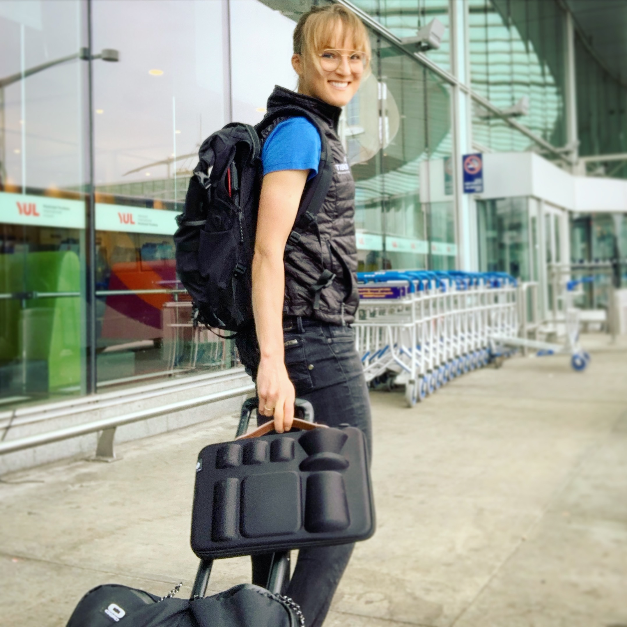 Timemore Nano Carrying kit at the airport Lex Albrecht
